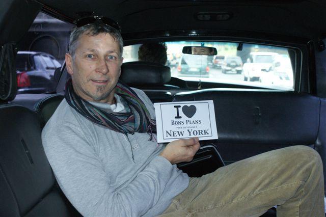 Christophe dans une limousine - Novembre 2010