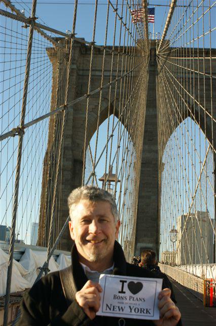 Christophe sur le Brooklyn Brigde - Novembre 2010