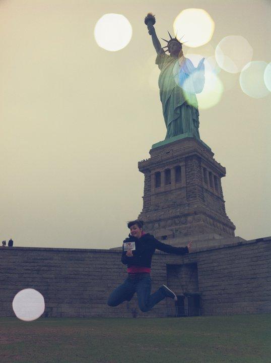 Florine à Liberty Island - Avril 2011