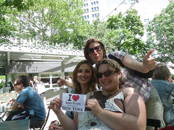 Céline, Laureen et Maud au Shake Shack de Madison Square - Juin 2011
