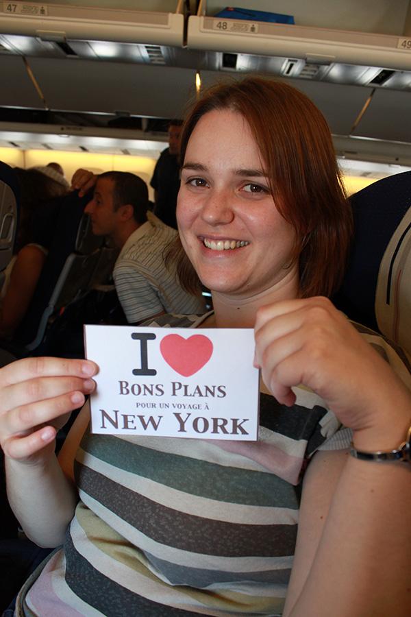 La copine de Nico dans l'avion - Juin 2011