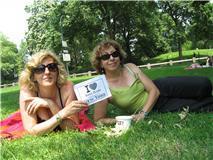 Catherine & Odile à Central Park - Août 2011