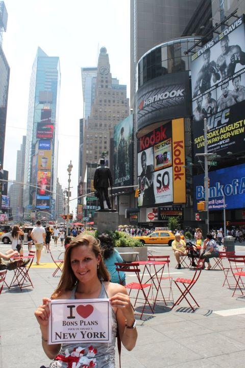 Carole à Times Square - Juillet 2011