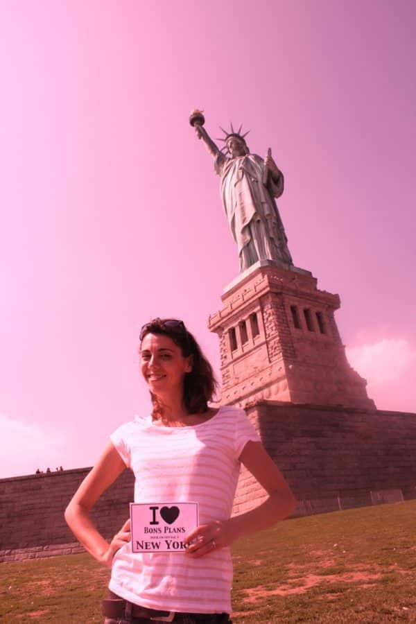 Mel au pied de la Statue de la Liberté - Septembre 2011