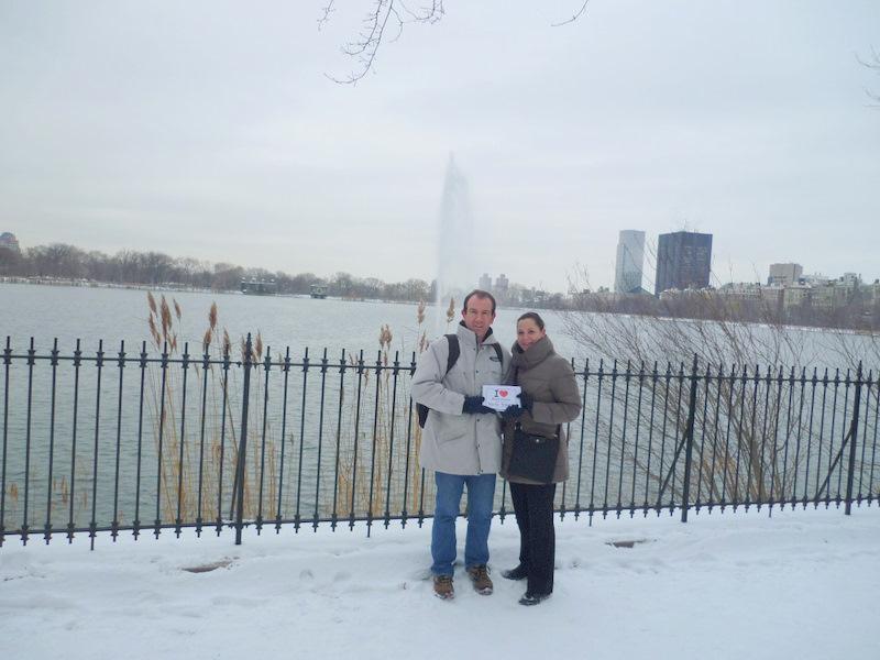 Aurélie & Ulrich sur la neige de Central Park - Janvier 2012