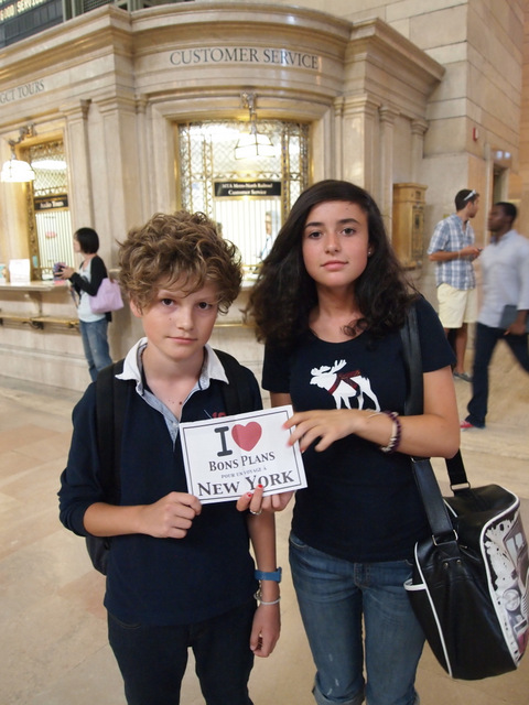 Elise et Paul à Grand Central Terminal - Août 2011