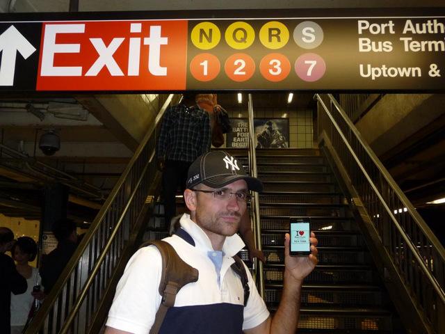 Jeremy dans le métro - Mai 2012