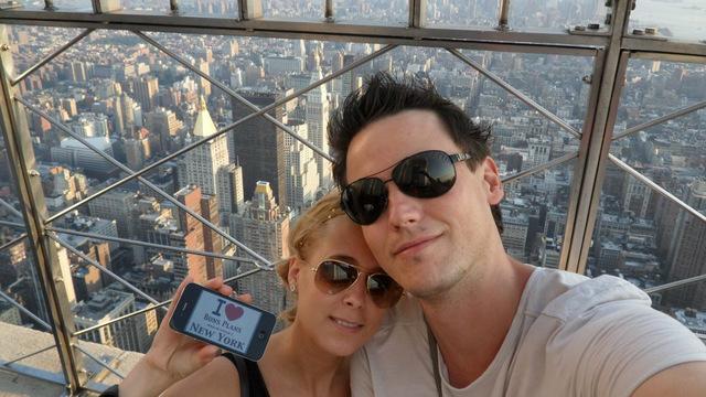 Vanessa et son chéri à l'Empire State Building - Juin 2012