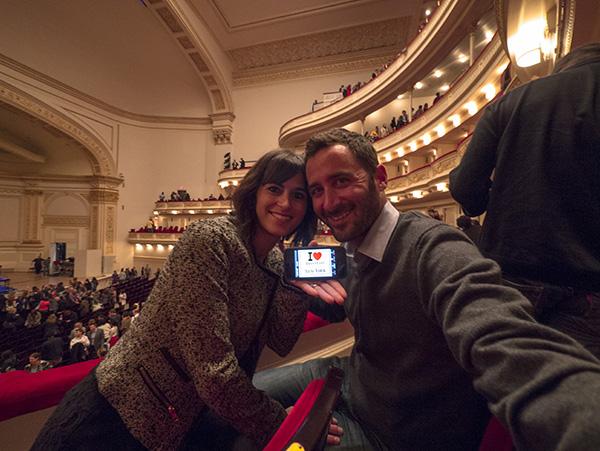 Poupy et la boulette au Carnegie Hall lors du concert de Ben Harper - Octobre 2012 – à New York City.