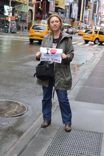 Sandrine à Times Square - Novembre 2012