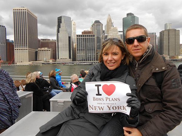 Céline & David lors d'une balade sur la Circle Line Manhattan - Novembre 2012