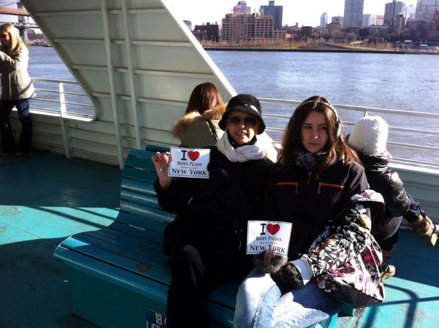 Daniele et sa fille pour une virée sur l'Hudson - Décembre 2012