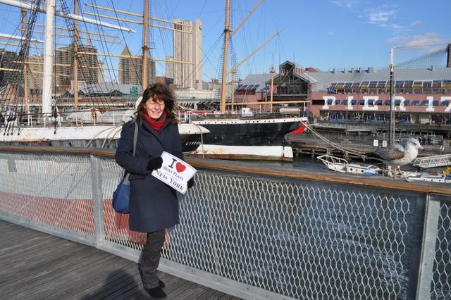 La femme de Michel vers Pier 17 - Décembre 2012