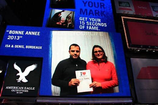 Isabelle et Denis en stars sur le grand écran d'American Eagle - Décembre 2012