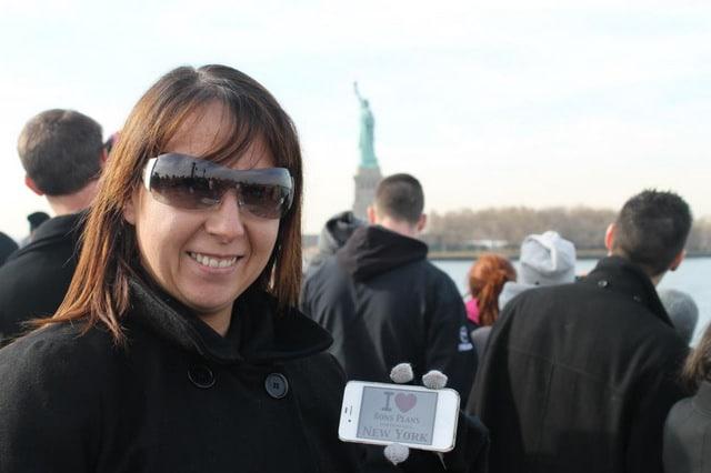 Virginie en balade vers la Statue de la Liberté - Novembre 2012