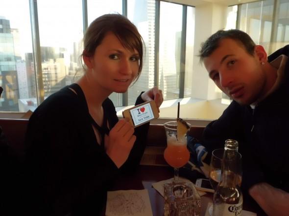 Audrey et Jérémy à l'hôtel Marriott - Mars 2013
