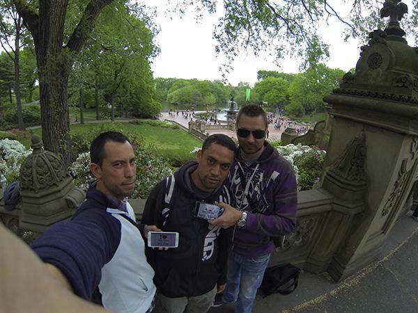 Jonathan, Michael et Fabrice à Central Park - Mai 2013