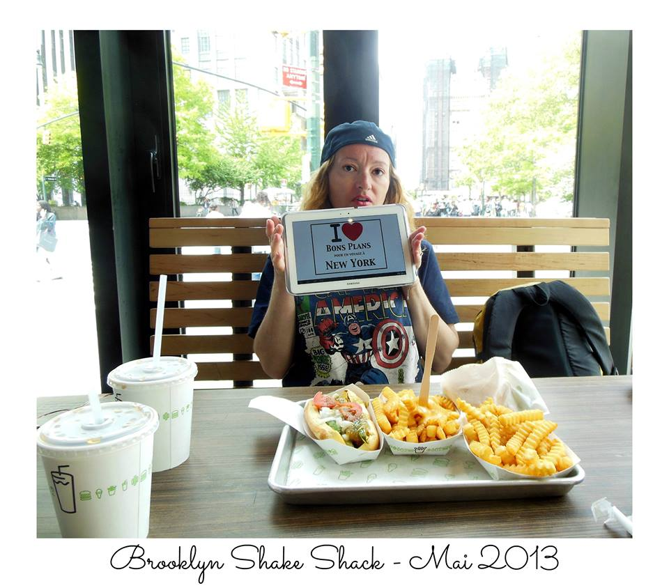 Virginie, alias Pics'Elle Photographies au Shake Shack de Brooklyn - Mai 2013