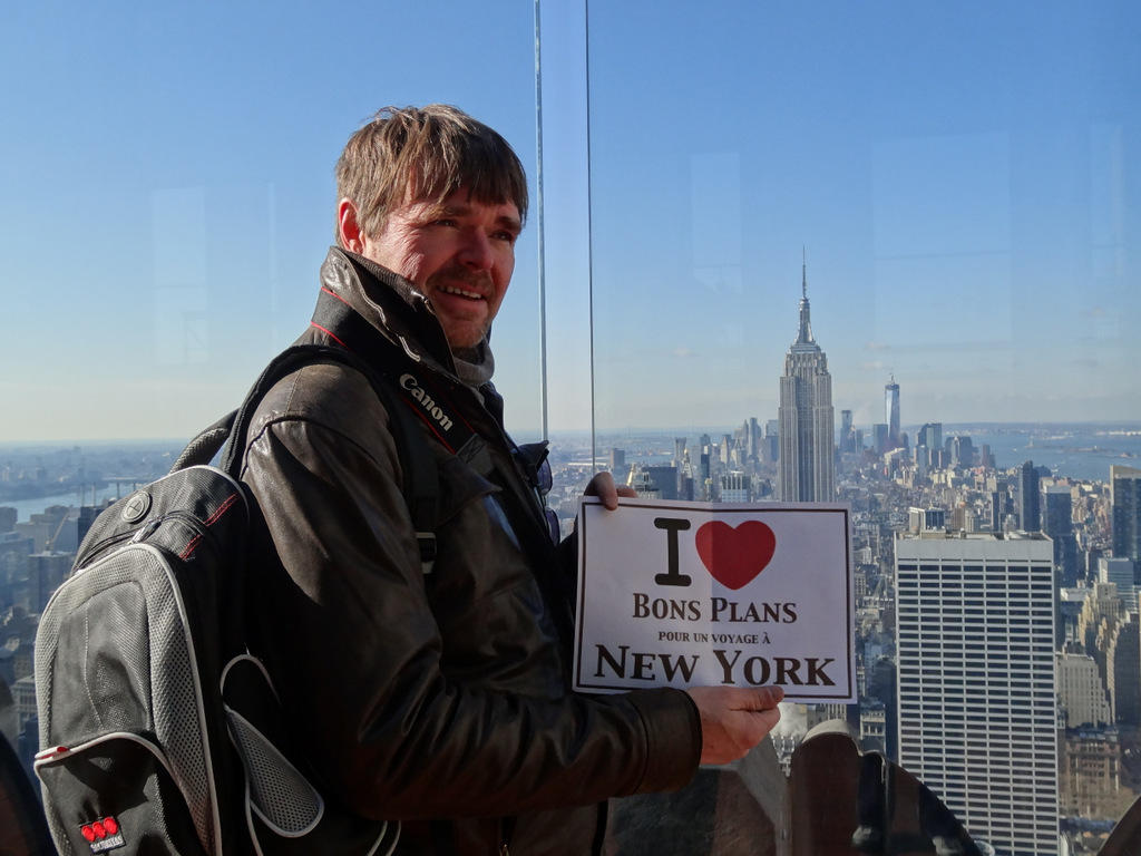Philippe au Top of the Rock - Mars 2013