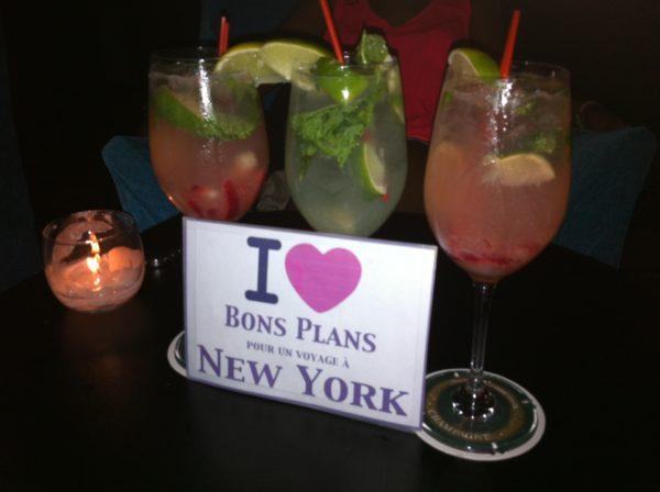 Les cocktails de Diane et ses deux copines à l'apéro BPVNY au Bubble Lounge - Juin 2013