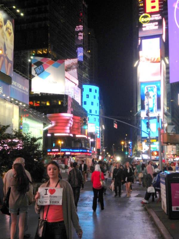 Marie sur Times Square - Juin 2013