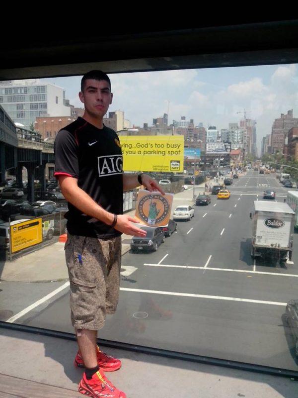 Dédicace de Max sur la High Line - Juillet 2013