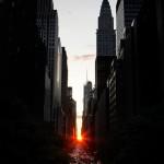 Allez voir le Manhattanhenge les 29, 30 Mai et les 12, 13 Juillet 2015 à New York