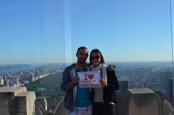 Yohan et Audrey au Top of the Rock pour leur voyage de noces - Septembre 2013