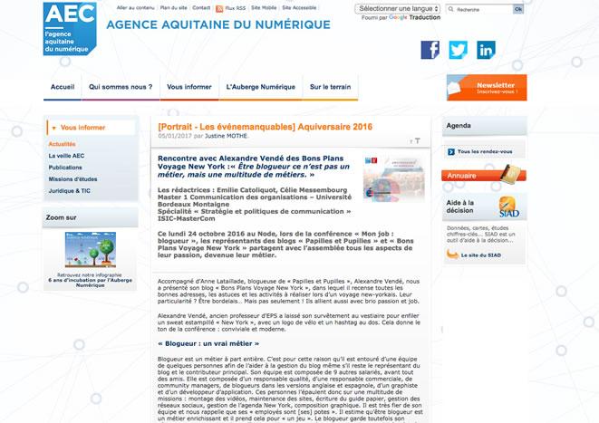 Agence Aquitaine du Numérique blogueur alexandre vende fevrier 2017