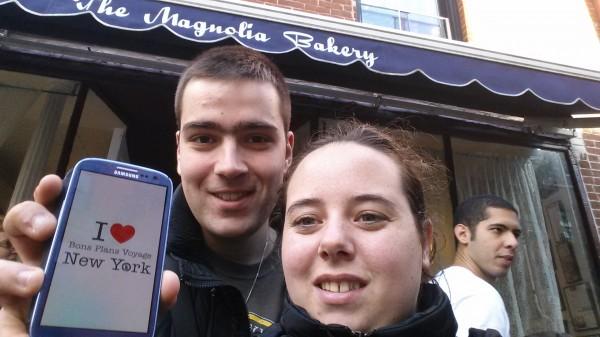 Kevin et sa chérie devant la Magnolia Bakery - Octobre 2013