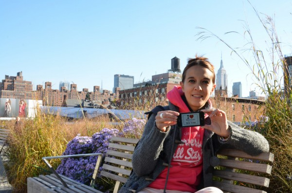 Virginie sur la High Line - Octobre 2013