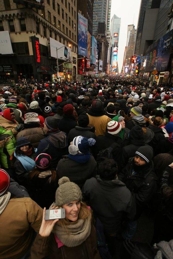 Florence pour une jolie dédicace près de Times Square pour le réveillon du jour de l'an 2014