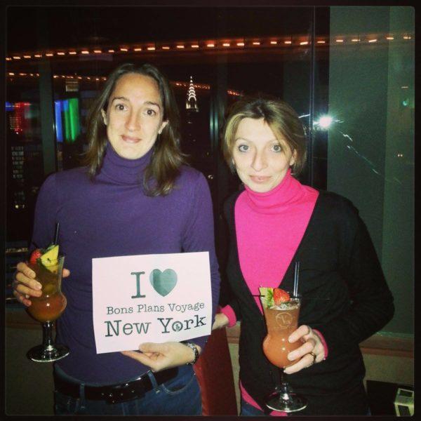 Chrsitine et Caroline pour une dédicace à New York - Février 2013