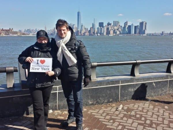 Feray Nadia et Marcel Chrismann pour une dédicace à Liberty Island - Février 2014