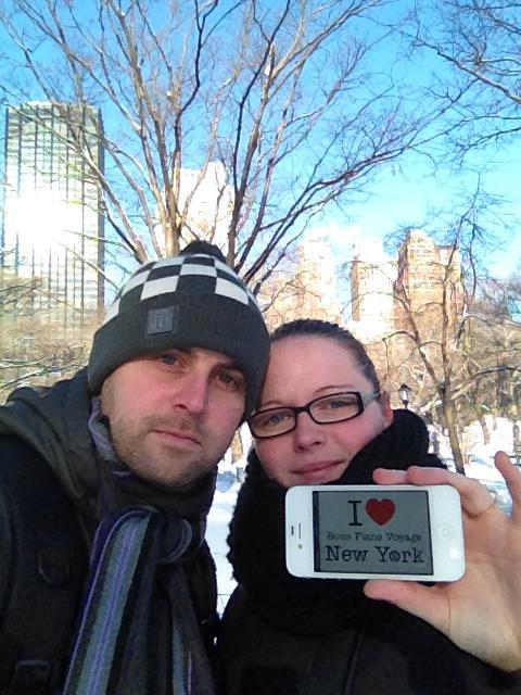 Ophélie et son chéri à Central Park - le 10 Février 2014