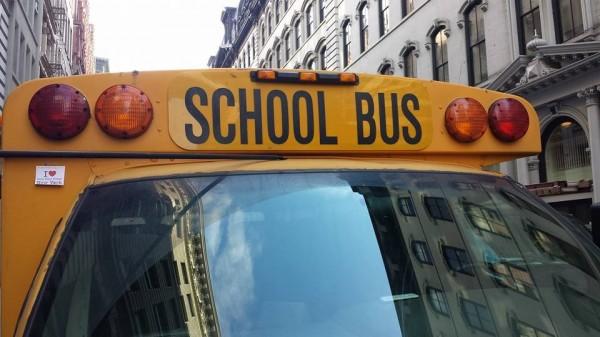 Dédicace de Smain sur un School Bus - 15 Janvier 2014