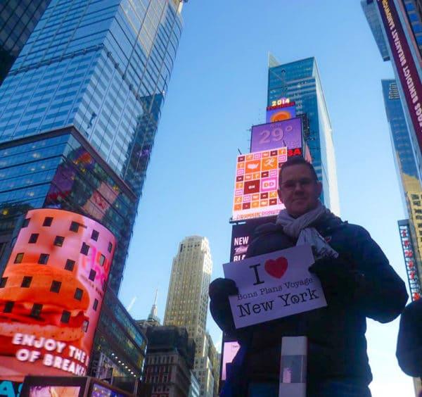 Dédicace de Christian à Times Square - Mars 2014