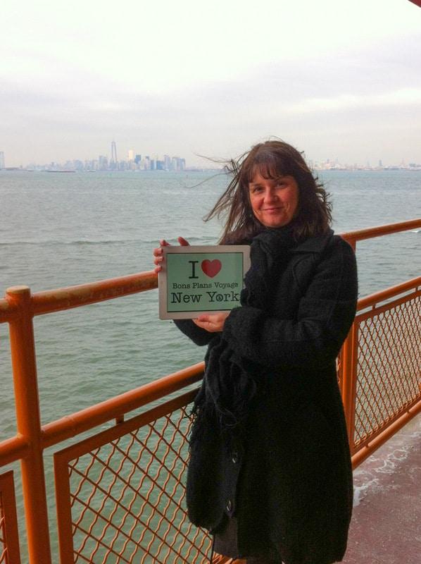 Marie-Pierre pour une dédicace BPVNY du côté de Staten Island - Mars 2014