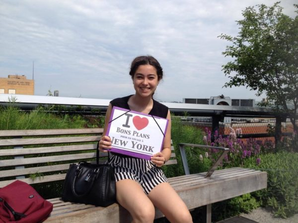 Camille pour une dédicace sur la High Line - Juin 2015