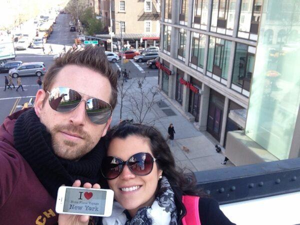 Dédicace de Sophie et Tony sur la High Line