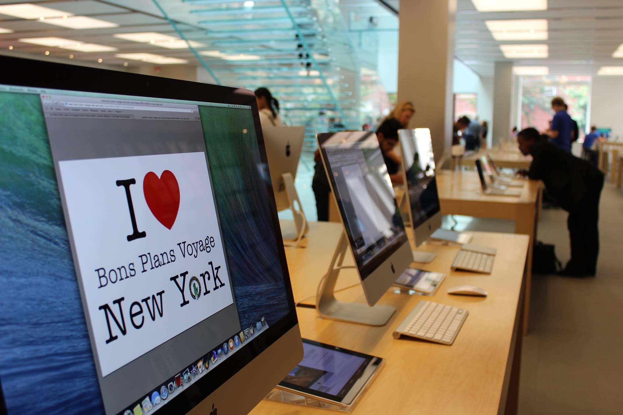 liste des apple stores de new york city. Black Bedroom Furniture Sets. Home Design Ideas