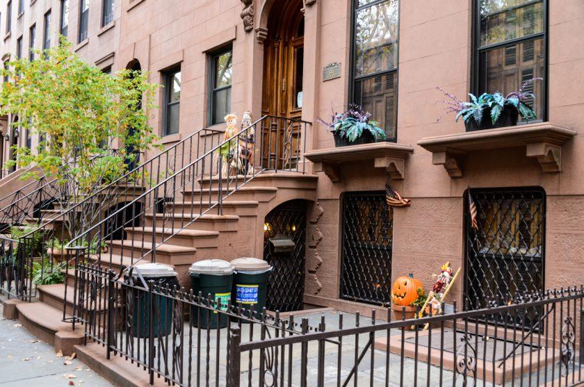 Découverte des décorations d'Halloween à Brooklyn