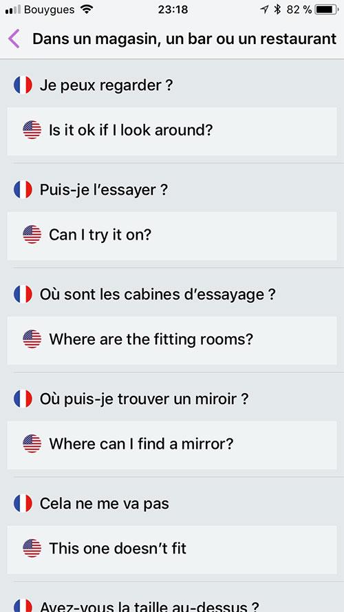 Appli - Guide de conversation