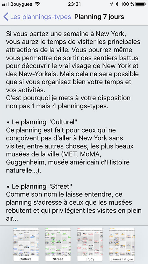 Appli - Plannings-types