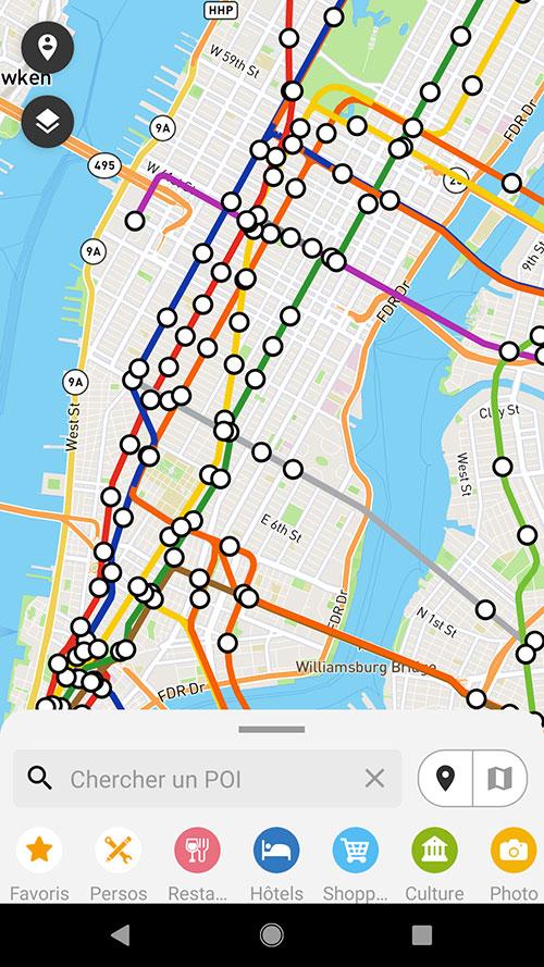 Affichage des lignes du métro