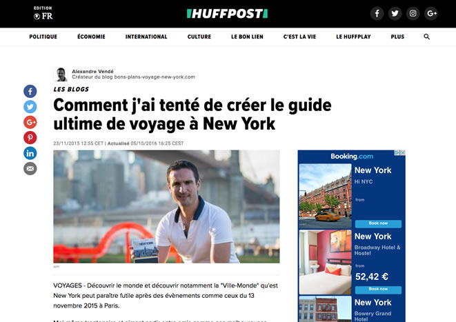 Huffington Post go new york alexandre vende novembre 2015
