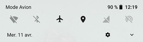Mode avion et GPS