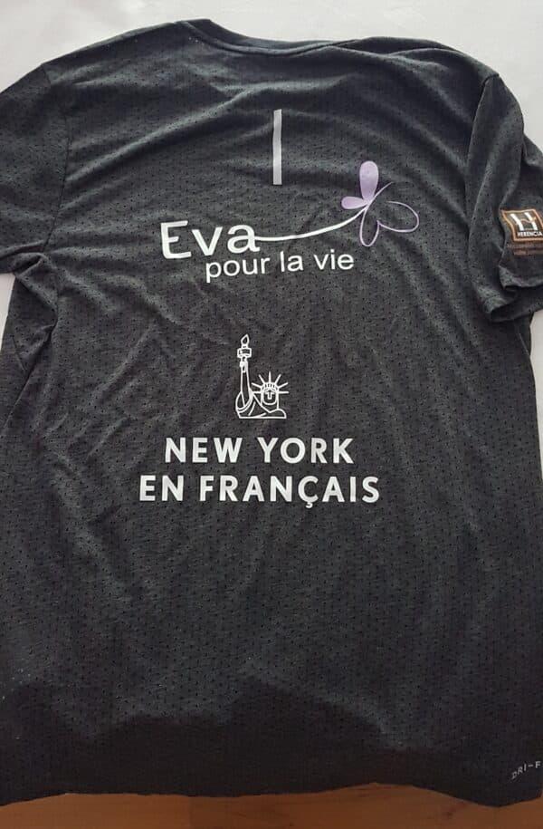 marathon de New York pour l'association Eva pour la vie new york en français