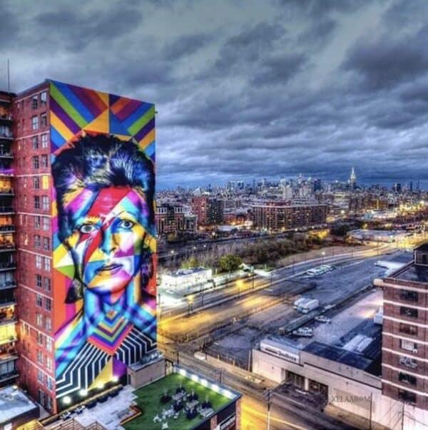 Ziggy Stardust david bowie kobra mural nyc