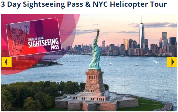 3 Day Sightseeing Pass & NYC Helicopter Tour
